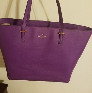 Kate Spade Cedar Street Harmony Purple Tote Bag  k